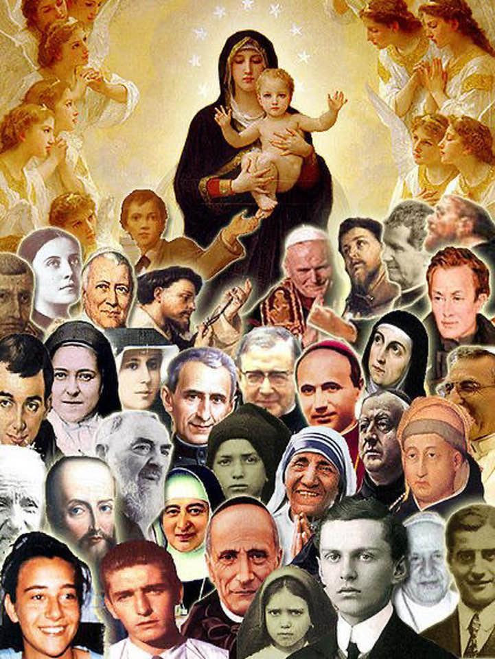 tutti i santi anche recenti